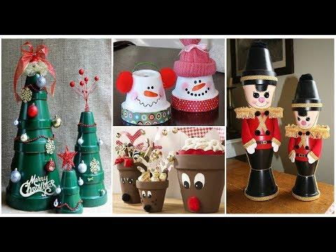 20 clay pot Christmas decoration