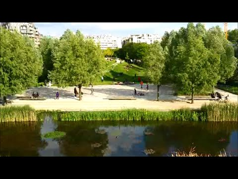 Parc Clichy-Batignolles - Martin Luther King in Paris, France. Cool park, local scene.