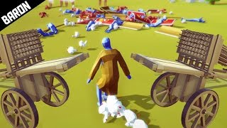 hwachas vs chicken man boss totally accurate battle simulator
