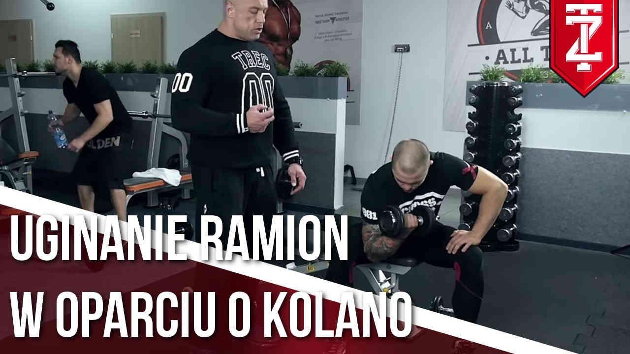 BICEPS ĆWICZENIA – Uginanie ramienia w oparciu o kolano   Podstawy dla początkujących   M. Karmowski