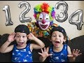 LEARN NUMBERS WITH SCARY CLOWN AND BALLOONS    FUNNY EDUCATIONAL VIDEO   FOR KIDS AND TODDLERS