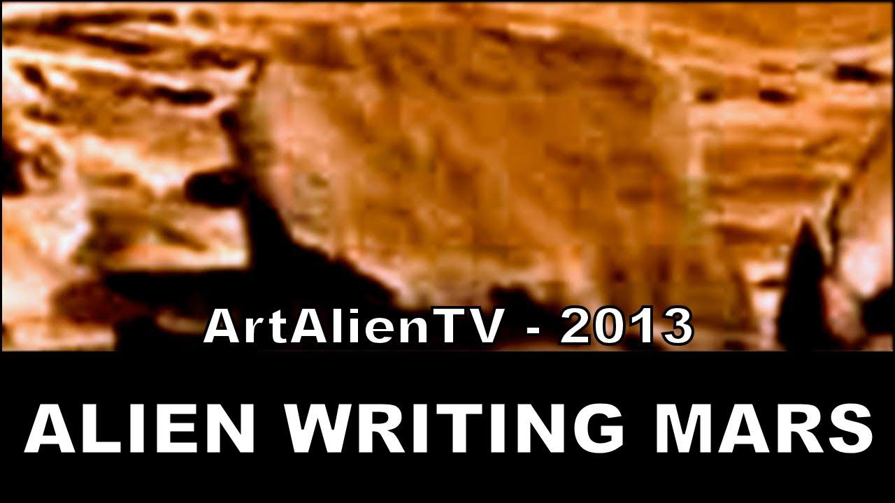 Ancient Alien Writing Mars Curiosity Sol 184 Petroglyphs