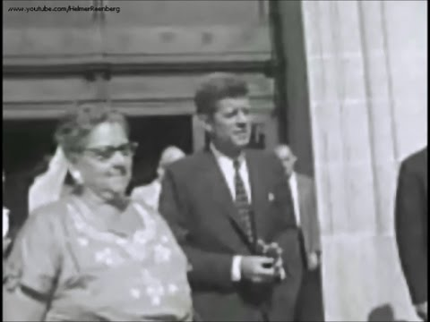 September 24, 1958 - Senator John F. Kennedy campaigning for re-election to the United States Senate
