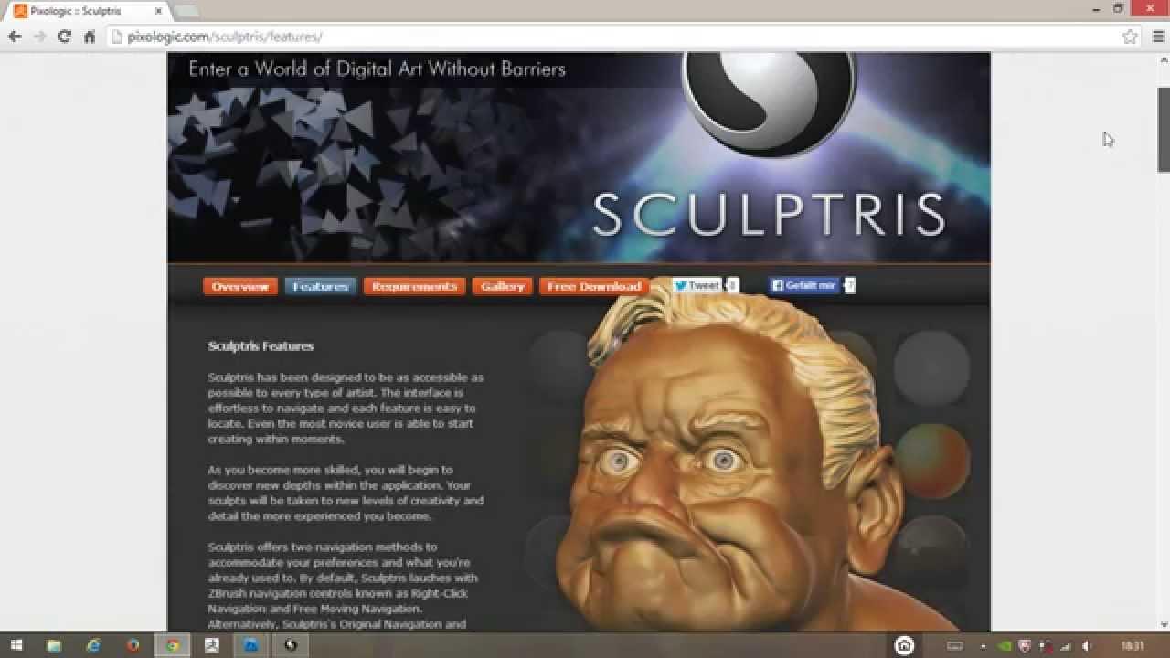 Sculptris Alpha 6 - Download, Installation, Navigation