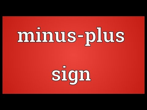 Minus-plus sign Meaning