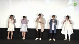 2016年06月17。…一度で良いので大阪で舞台挨拶してほしい。 0:41から注...