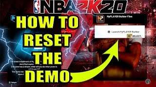 NBA 2K20 DEMO - HOW TO RESET YOUR PLAYERS  (XBOX ONE VERSION) CONFIRMED