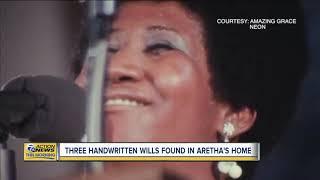 3 handwritten wills found in Aretha Franklin's home