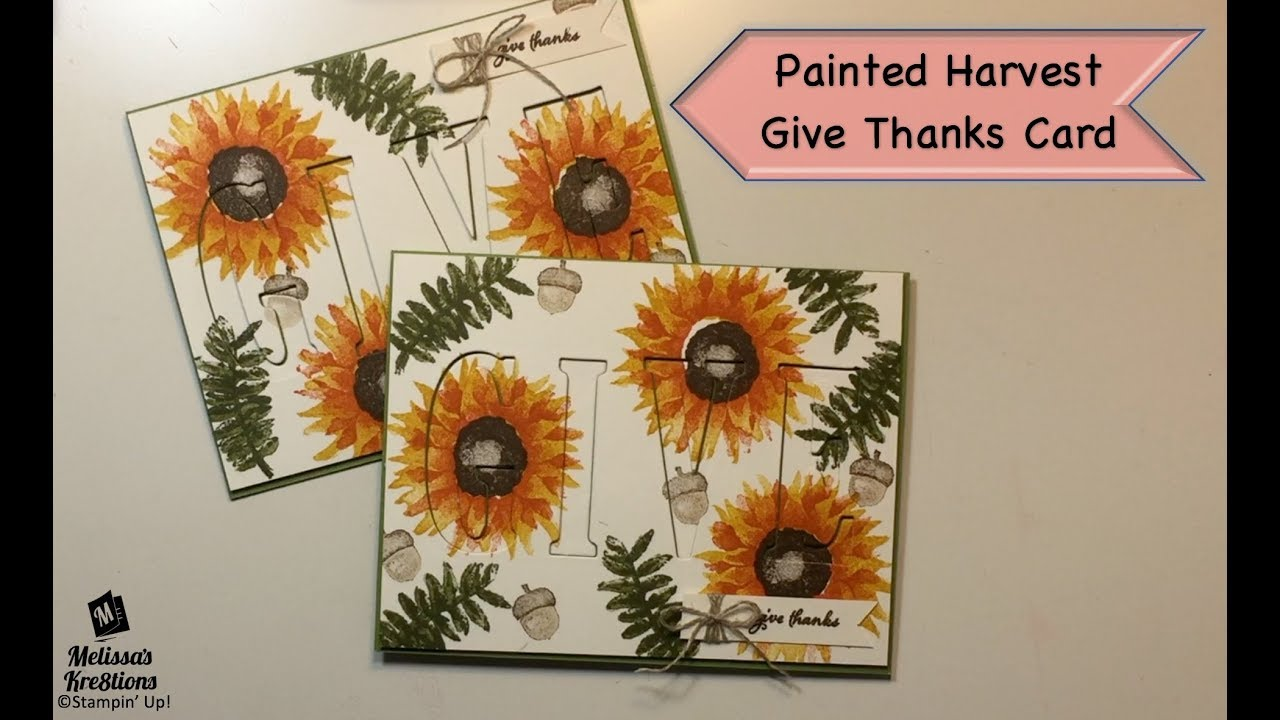 Reverse Eclipse Painted Harvest Card Stampin Up Melissa S Kre8tions Youtube