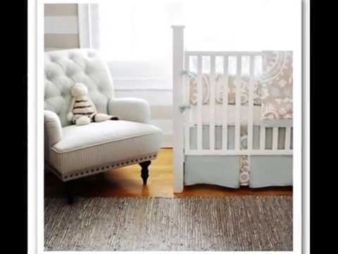 Bed in a Bed -- New Arrivals Picket Fence 2 Piece Crib Bedding Set, Beige