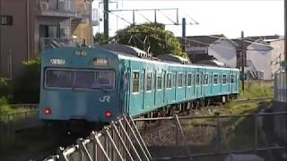 阪和線羽衣支線103系HL101編成 鳳駅発車