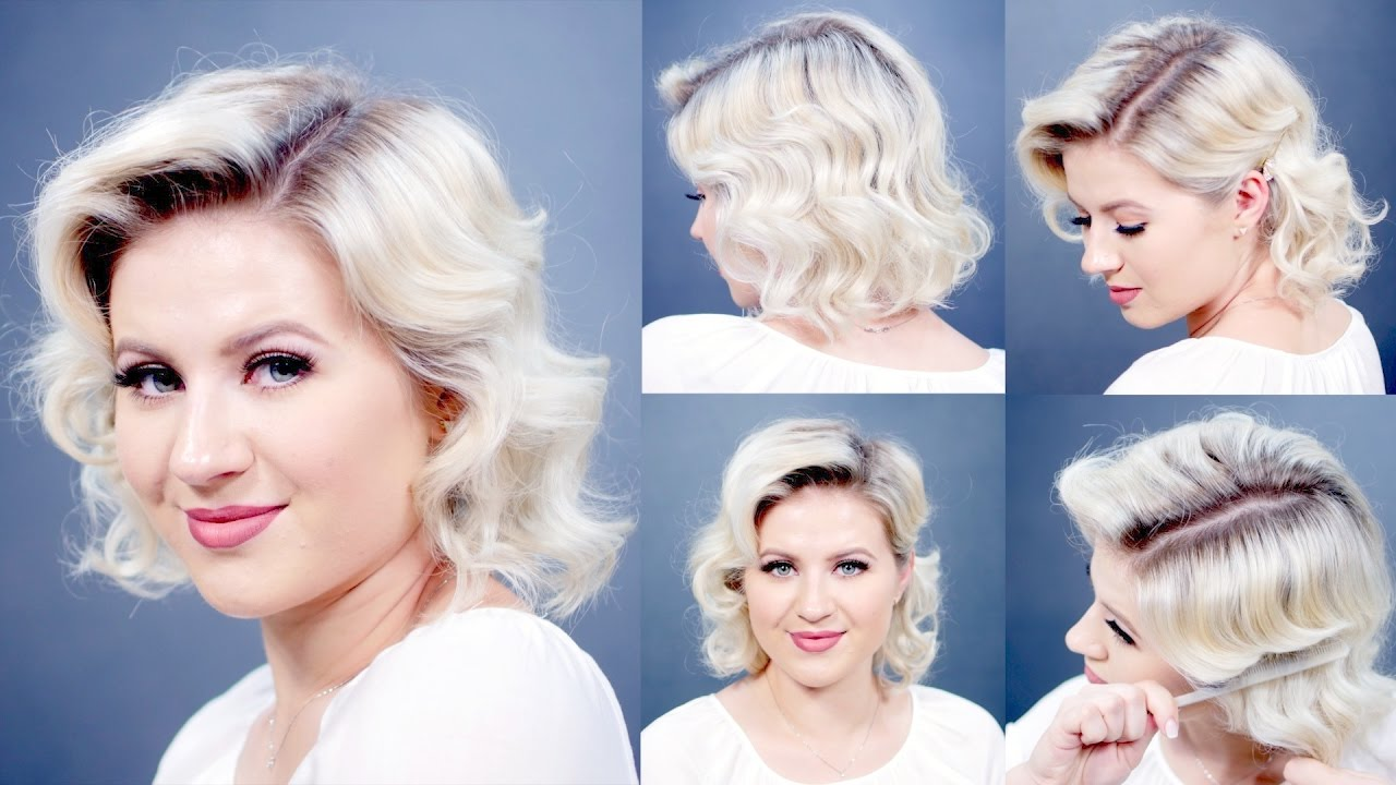 HOW TO: Retro Finger Waves Short Hairstyles | Milabu - YouTube