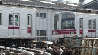 【東武20400系 10編成目 5ドア→3ドア改造 21442F 屋外留置位置変更】8編成目 21441F、9編成目 21432Fは工場内で改造中。