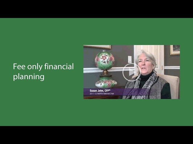 Patrick Bourbon - What is Fee-only certified Planning