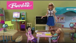 Barbie First Day of School Story with Chelsea Going to Kindergarten: Barbie Dolls and Toys