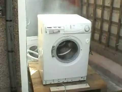 Eksperyment z pralką i cegłą - YouTube