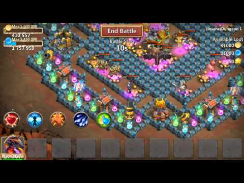 Castle Clash Insane Dungeon 1-5 And 1-6 Tutorial