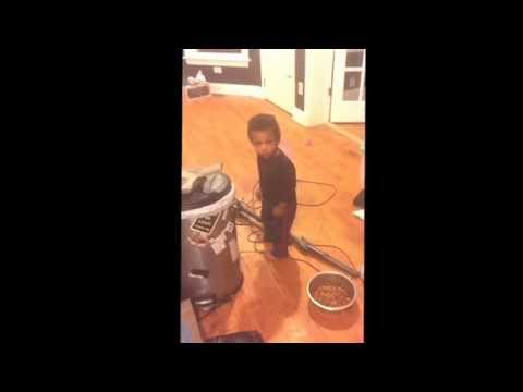 Kid goes into statue mode when he gets in trouble