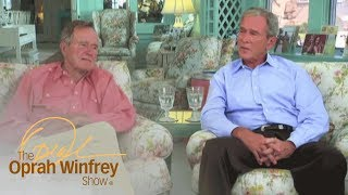 """""""Powerful Moment"""" George Bush Shared with Father in the White House 