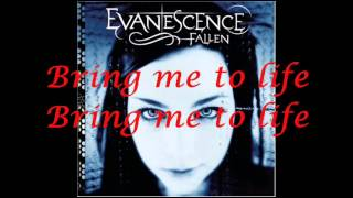 Bring Me To Life - Evanescence (Piano instrumental + lyrics)
