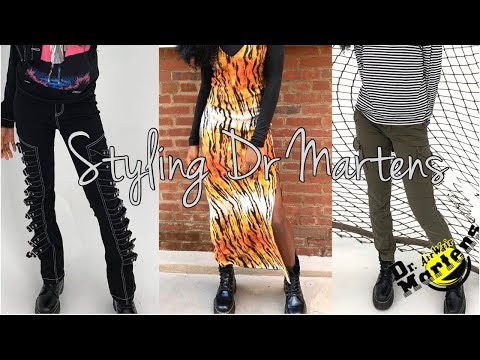 HOW I STYLE DR. MARTEN JADON BOOTS || LOOKBOOK || KARIISHA