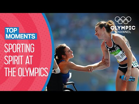 Top 10 Moments of Olympic Sporting Spirit | Top Moments