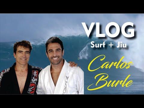 Carlos Burle treinando Jiu Jitsu com Fabio Durello - BJJCLUB