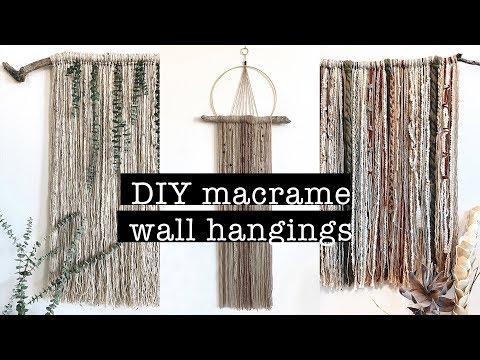 DIY Macrame Wall Hangings (beautiful & easy)