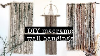 Diy Macrame Wall Hangings (beautiful & Easy)