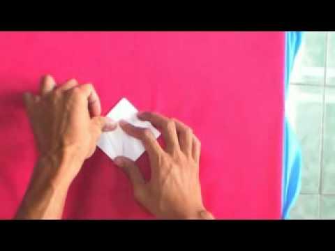 การพับกระดาษเป็นรูปดอกบัว