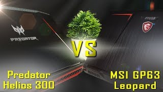Acer Predator Helios 300 vs MSI GP63 - In-depth Comparison / Review || GTX 1060 / i7-8750H
