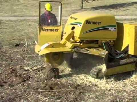 Vermeer Stump Grinder >> Vermeer S Sc 60 Tx 60hp Tracked Stump Grinder Youtube