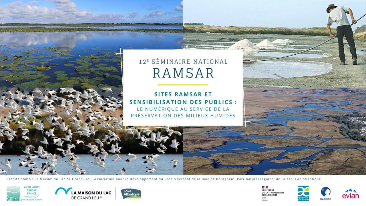 """Retour sur la 12e édition du séminaire national Ramsar """"Sites Ramsar et sensibilisation des publics : le numérique au service de la préservation des milieux humides"""", 4-5 novembre 2020"""
