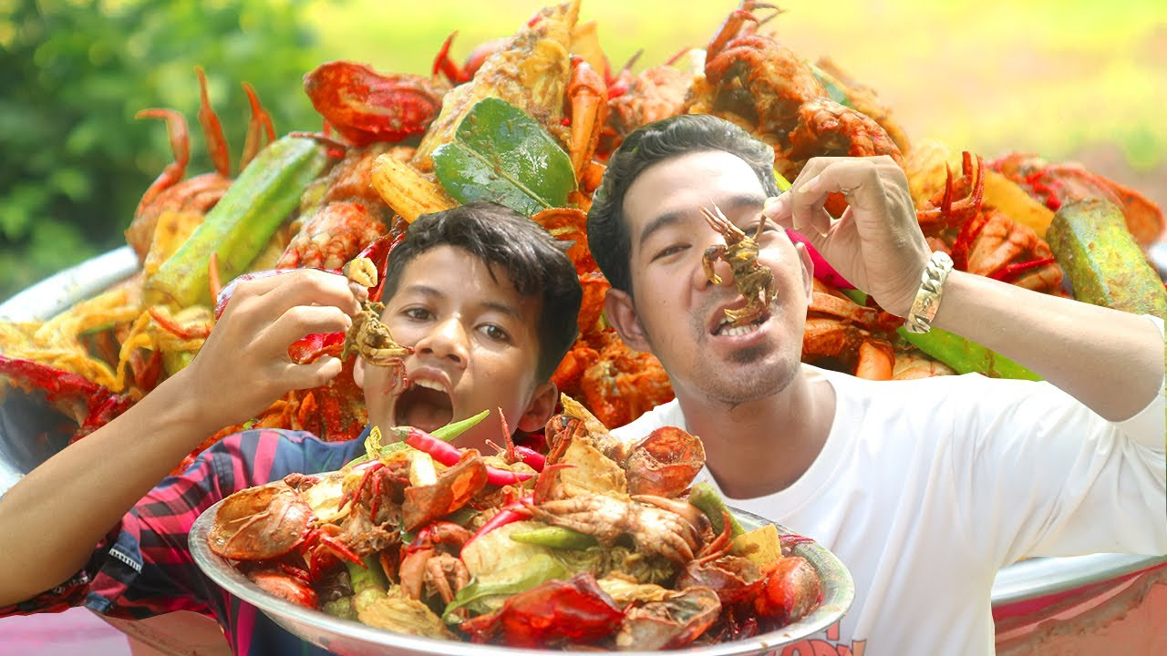 Eating delicious - Cooking and eating delicious crabs Recipe