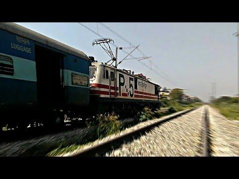 HIGH Speed Action!! Wap-5 led Sadbhavna SF Express Crushing Through Chandigarh jn