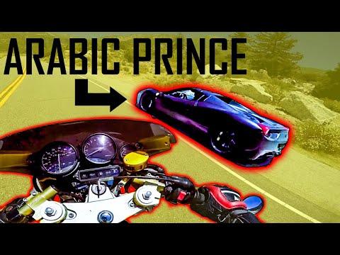 ARABIC PRINCE STREET RACING FERRARI !!