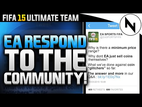 EA REPLY TO THE COMMUNITY! - FIFA 15 Ultimate Team