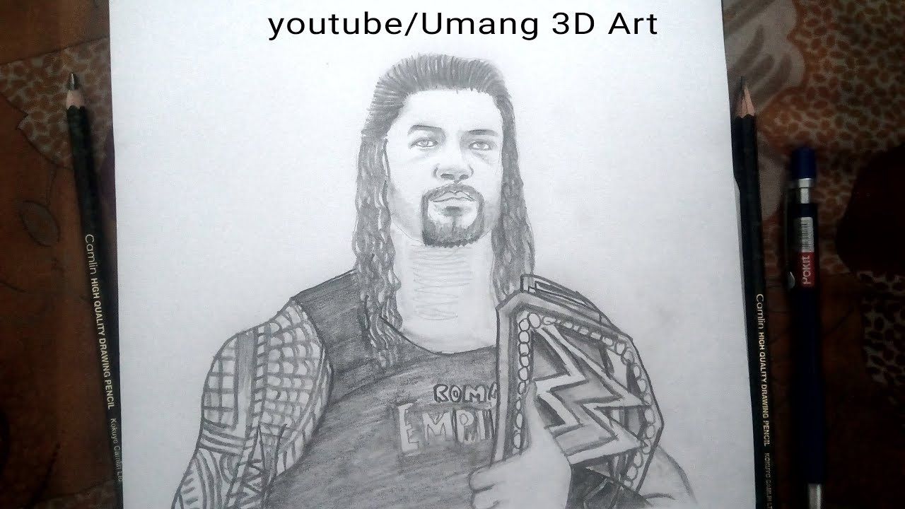 Roman reigns drawing with wwe championship belt