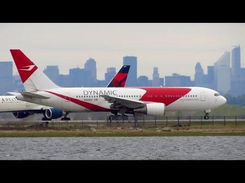DYNAMIC AIRWAYS Boeing 767-200ER [N253MY] Early Takeoff from New York JFK [Full HD]