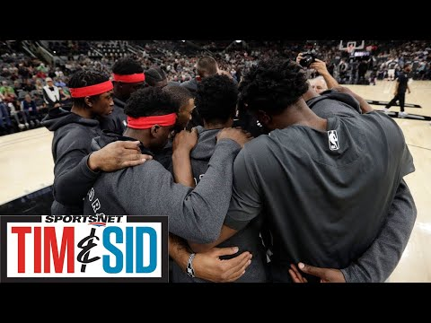 Nick Nurse On Coming Up With Raptors & Spurs' Tribute To Kobe Bryant | Tim And Sid