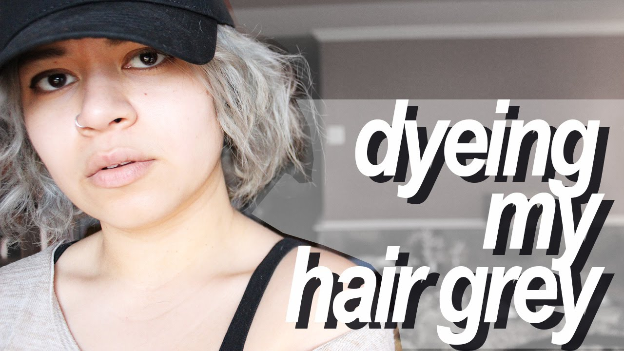 Dyeing My Hair Grey With Adore Platinum 150 Youtube