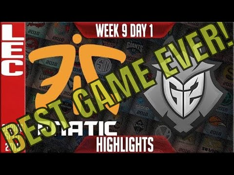 FNC vs G2 Highlights (BEST GAME EVER) | LEC Spring 2019 Week 9 Day 1 | Fnatic vs G2 Esports