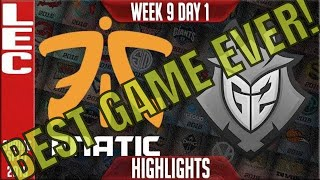 FNC vs G2 Highlights (BEST GAME EVER) | LEC Spring 2019 Week 9 Day 1 | Fnatic vs G2 Esports