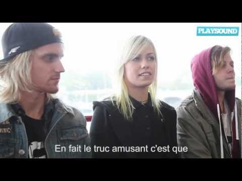 Interview Tonight Alive - 29 septembre 2012
