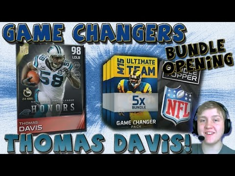 "PULLED THOMAS DAVIS! EPIC PULL!!!!! ""HONORS THOMAS DAVIS"" -- ""MUT 15 GAME CHANGERS BUNDLE"""