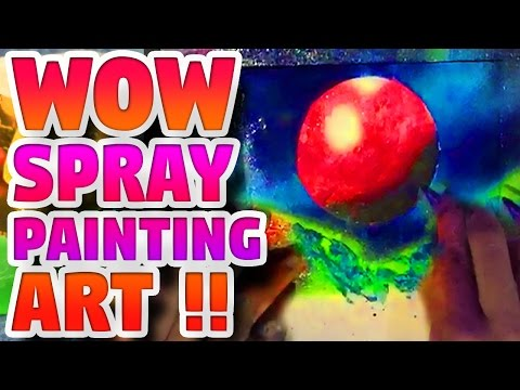 SPRAY PAINT ART |  GALAXY STREET ART SPRAY PAINTING – Elieoops