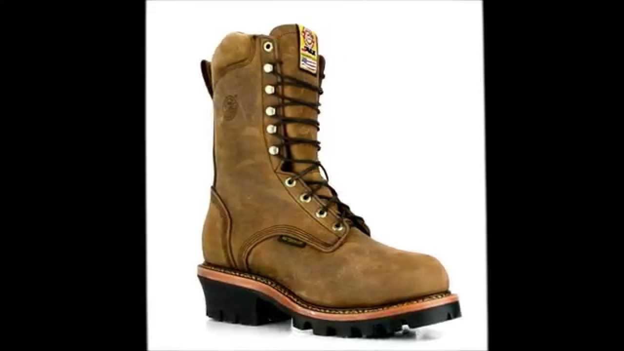 497321d454d Men's Justin Original 447 Steel Toe WP American Made Logger Work Boot @  Steel-Toe-Shoes.com