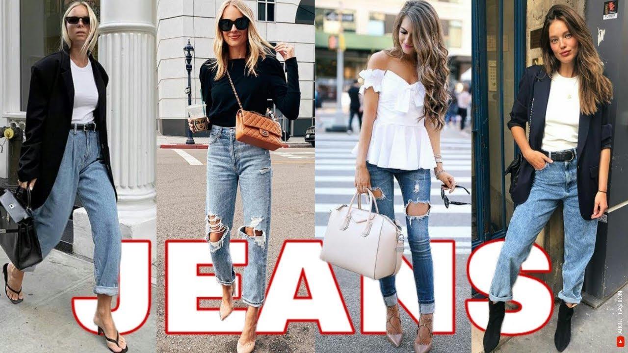 Outfits De Mujer Con Jeans De Moda 2020 2021 Youtube