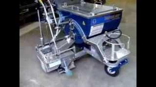 видео Оборудование и машины для нанесения дорожной разметки | Нанесение горизонтальной дорожной разметки  ─ Окрасочная машина