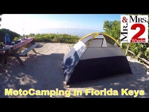 Motorcycle Camping in Florida Keys